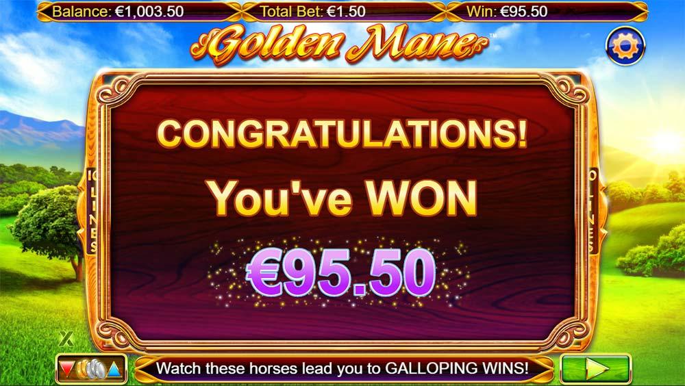 Golden Mane Slot - Bonus End