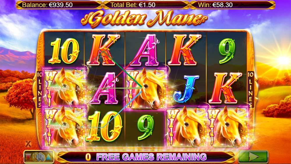 Golden Mane Slot - Added Wilds Win