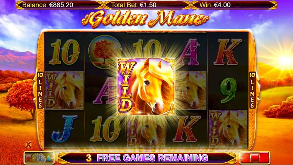 Golden Mane Slot - Added Wilds