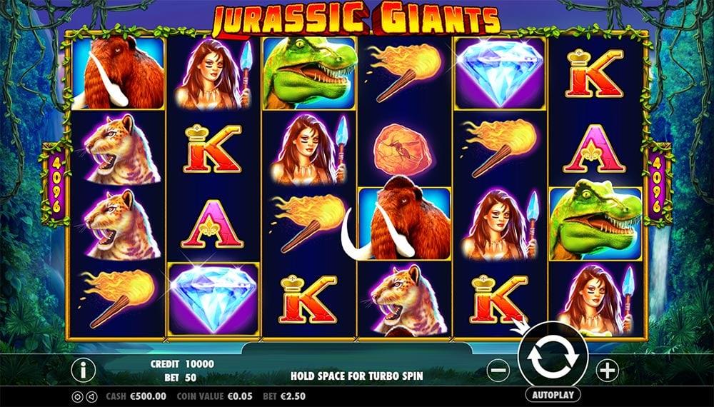 Jurassic Giants Slot - Base Game