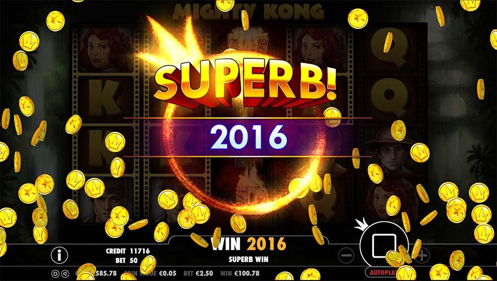 Mighty Kong Slot - Superb Win!