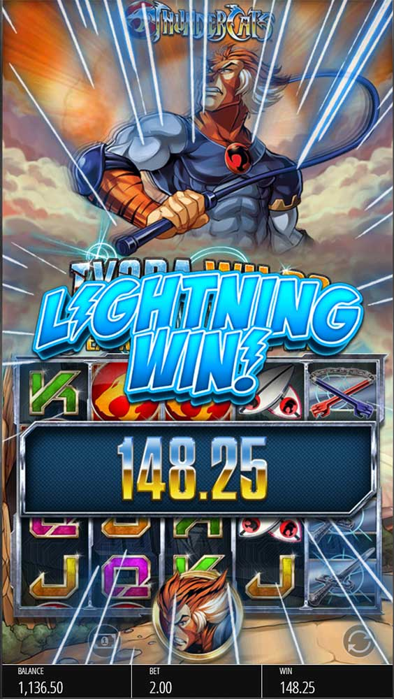 Thundercats Slot - Lightning Win