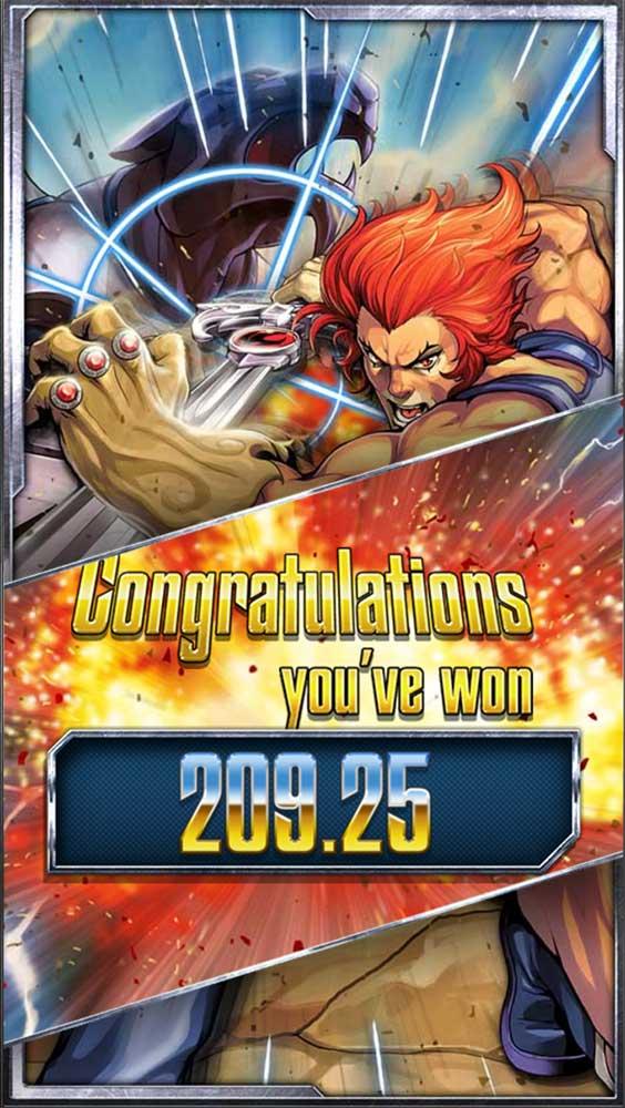 Thundercats Slot - Bonus End