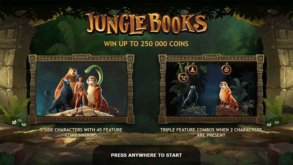 Jungle Books Slot - Intro Screen