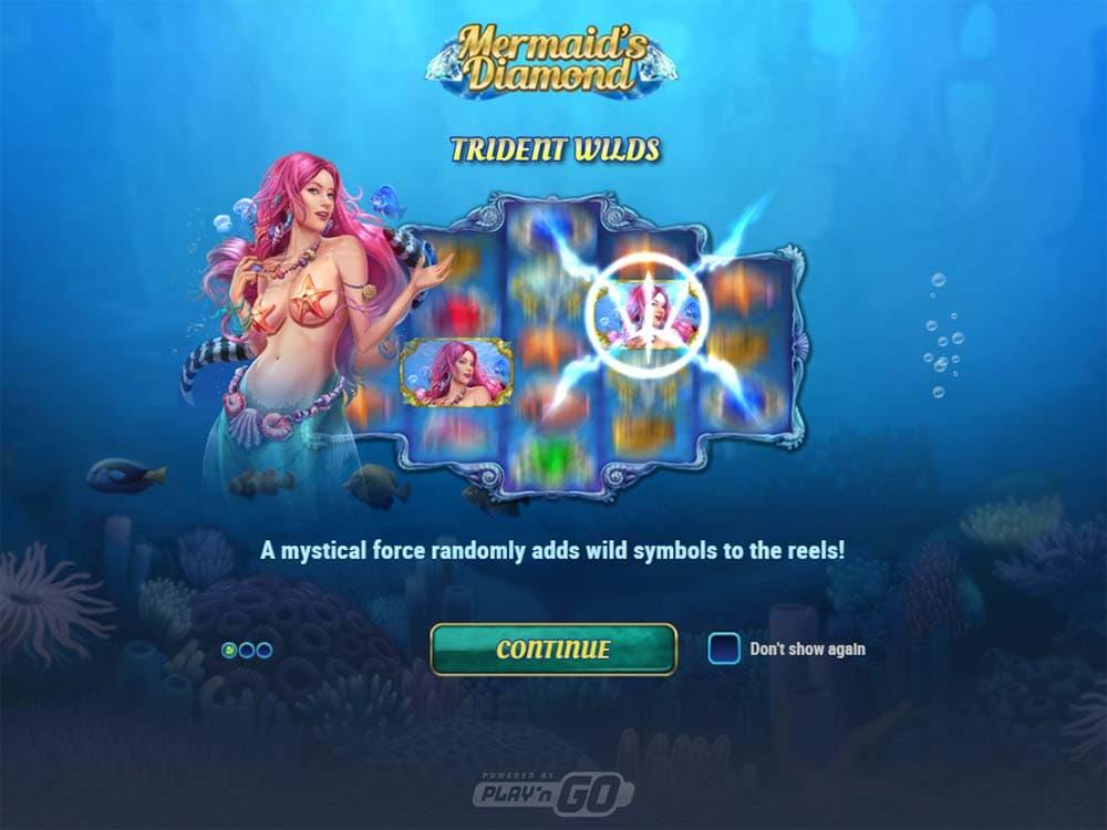 Mermaid's Diamond Slot - Intro Screen