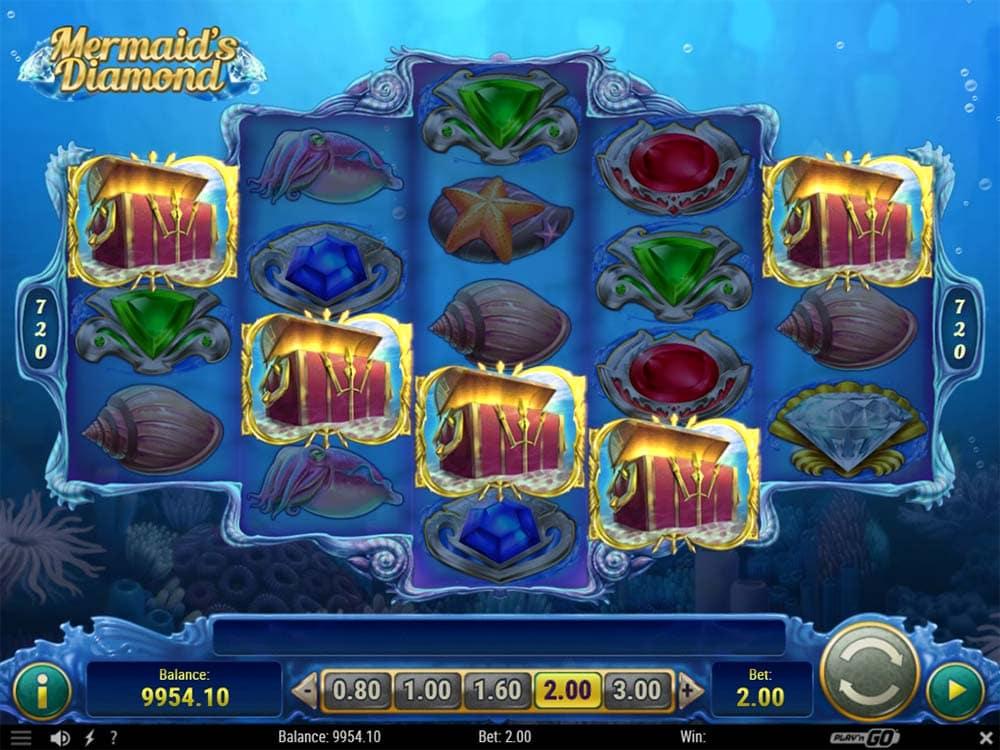 Mermaid's Diamond Slot - Bonus Trigger