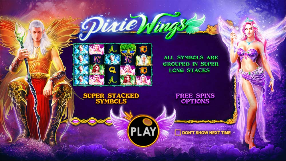 Pixie Wings Slot - Intro Screen