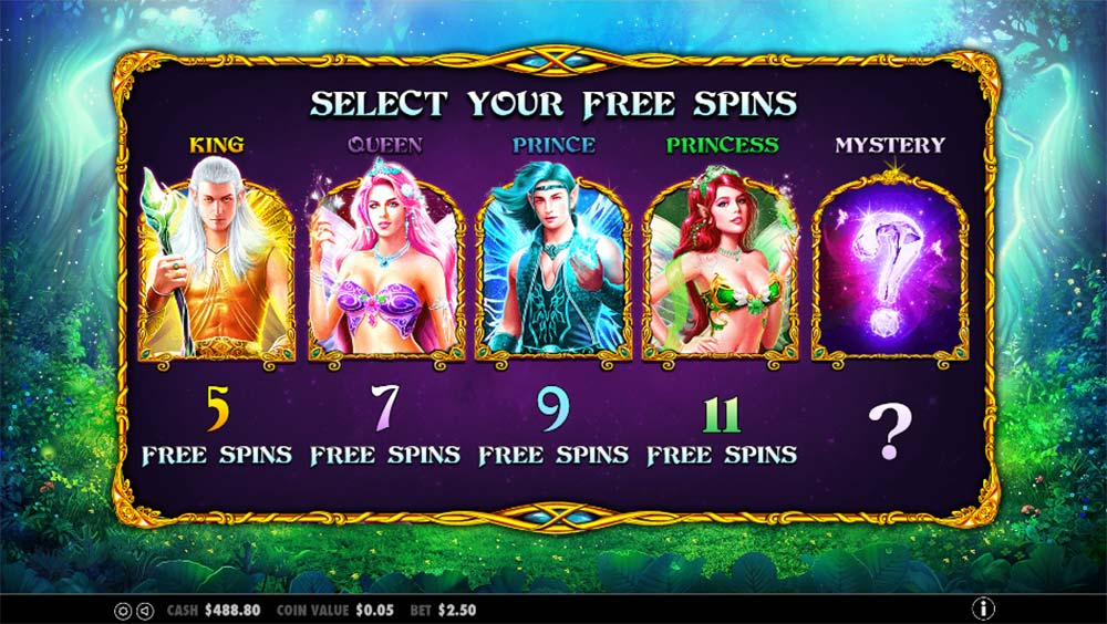 Pixie Wings Slot - Free Spins Selection