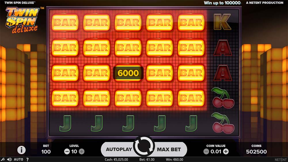 Twin Spin Deluxe Slot - Cluster Pays