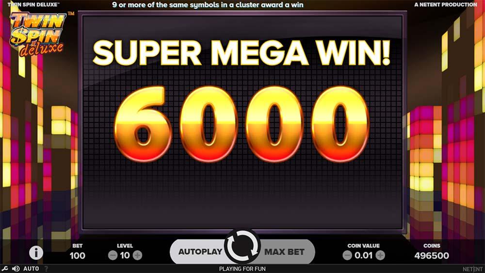 Twin Spin Deluxe Slot - Super Mega Win