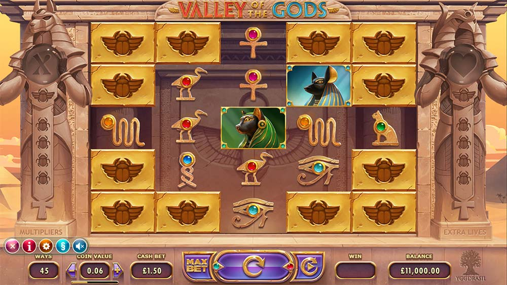 Valley Of The Gods Slot - Base Game