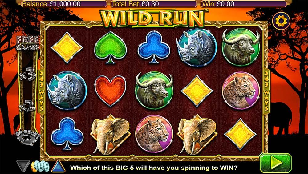 Wild Run Slot - Base Game
