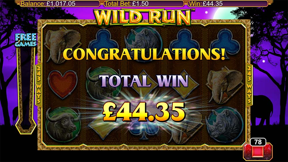 Wild Run Slot - Bonus End