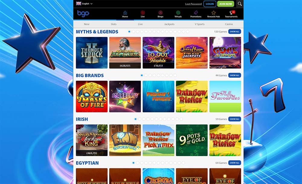 BGO Casino Slot Filters