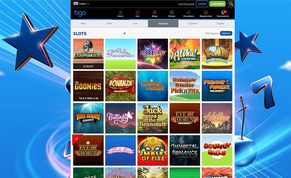 BGO Casino Slots Section