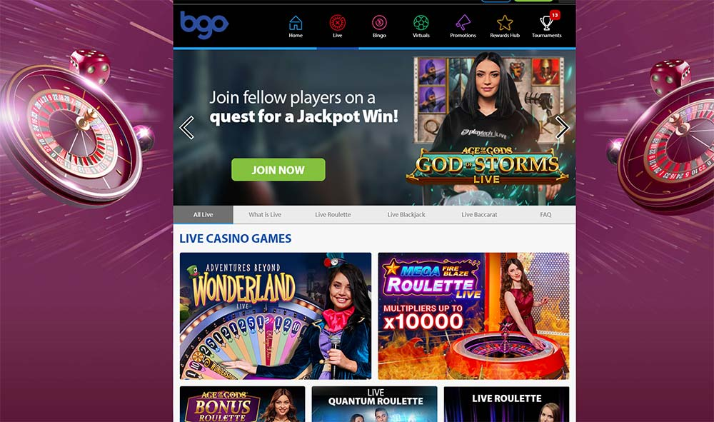 BGO Live Casino Section