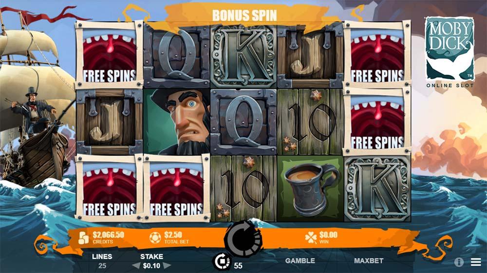 Moby Dick Slot - Bonus Trigger
