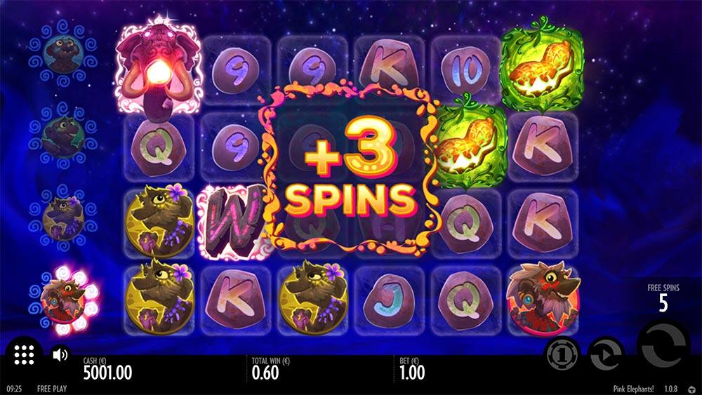 Pink Elephants Slot - Re-Trigger Free Spins