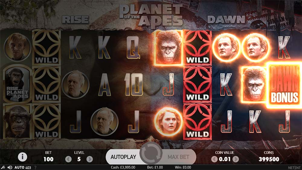 Planet of the Apes Slot - Dawn Trigger