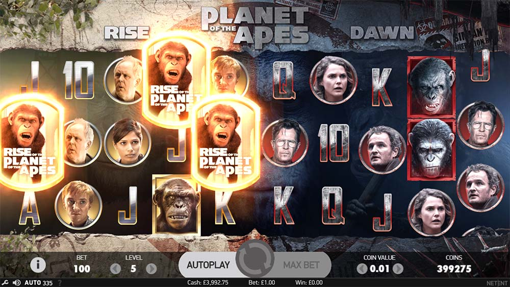 Planet of the Apes Slot - Rise Free Spins