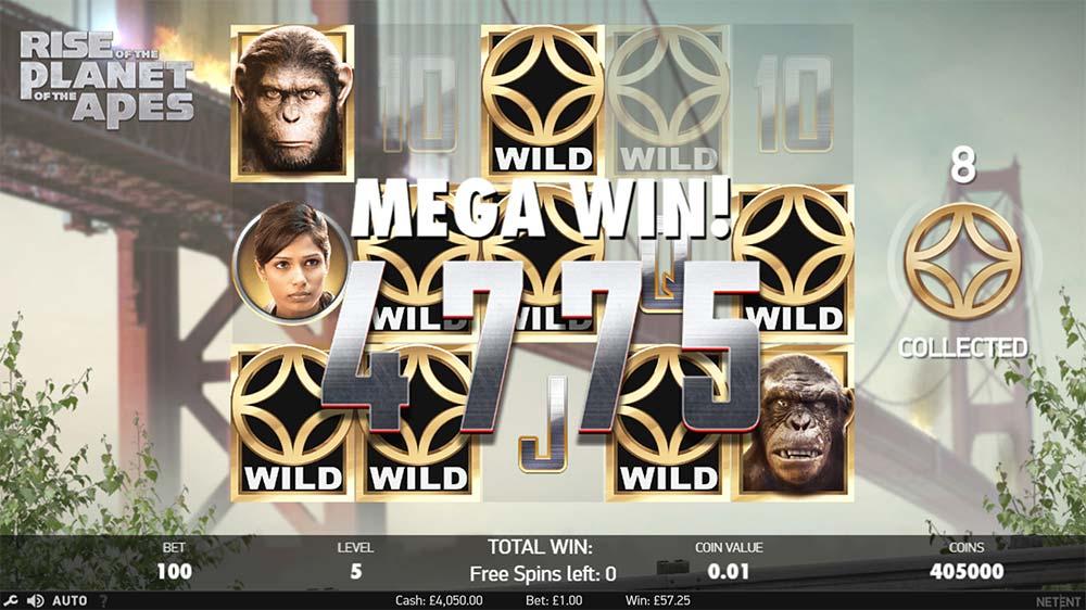 Planet of the Apes Slot - Mega Win