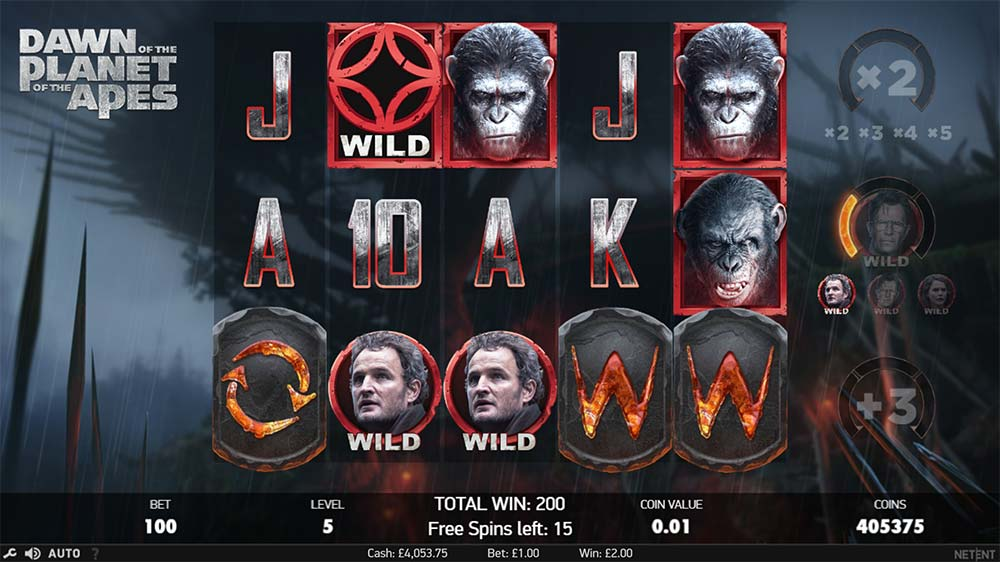 Planet of the Apes Slot - Rise Trigger