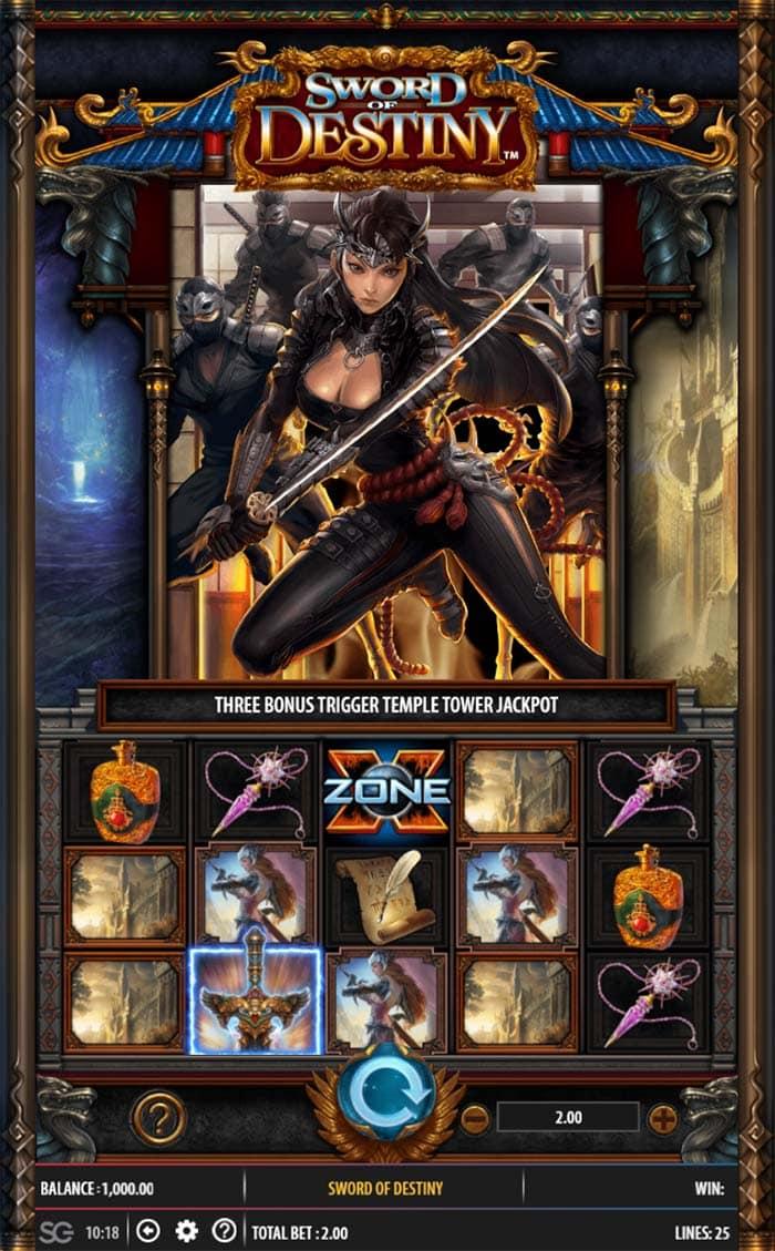 Sword of Destiny Slot - Base Game