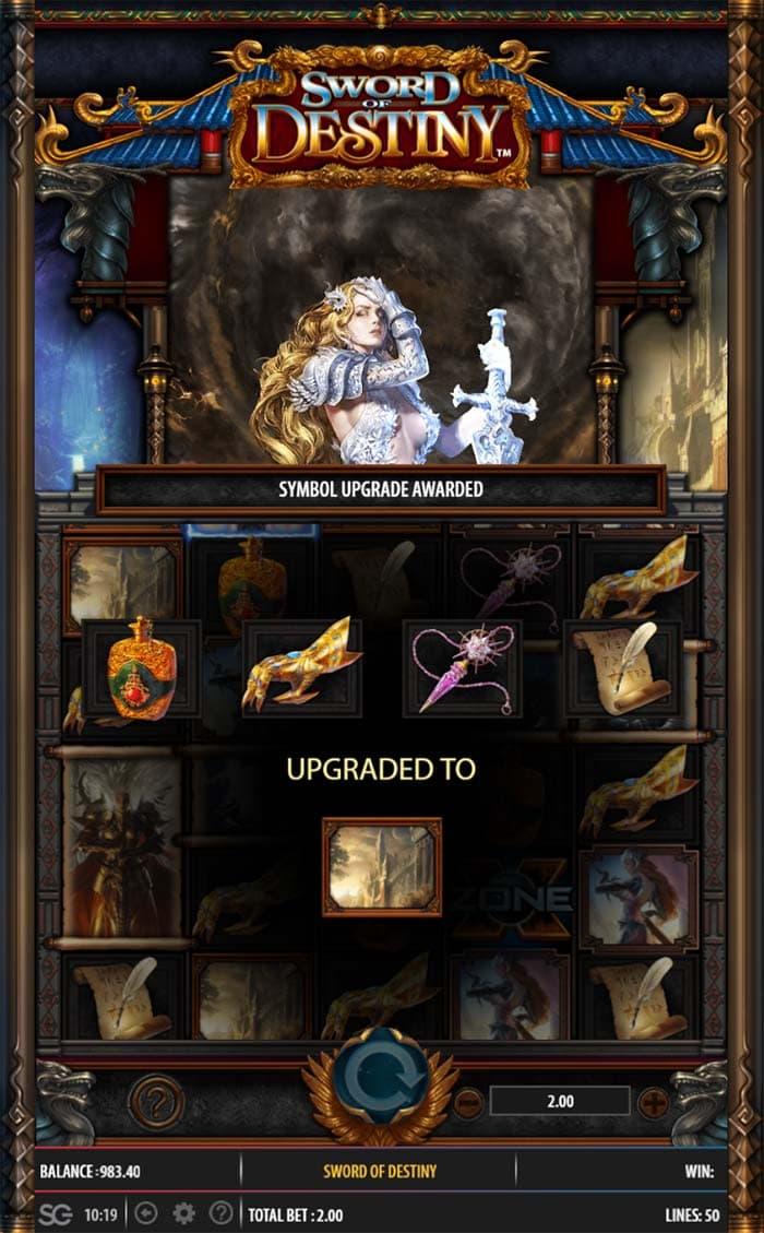 Sword of Destiny Slot - Symbol Upgrade Feature