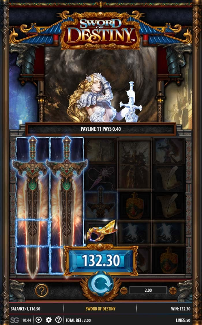 Sword of Destiny Slot - Clumped Wilds Feature