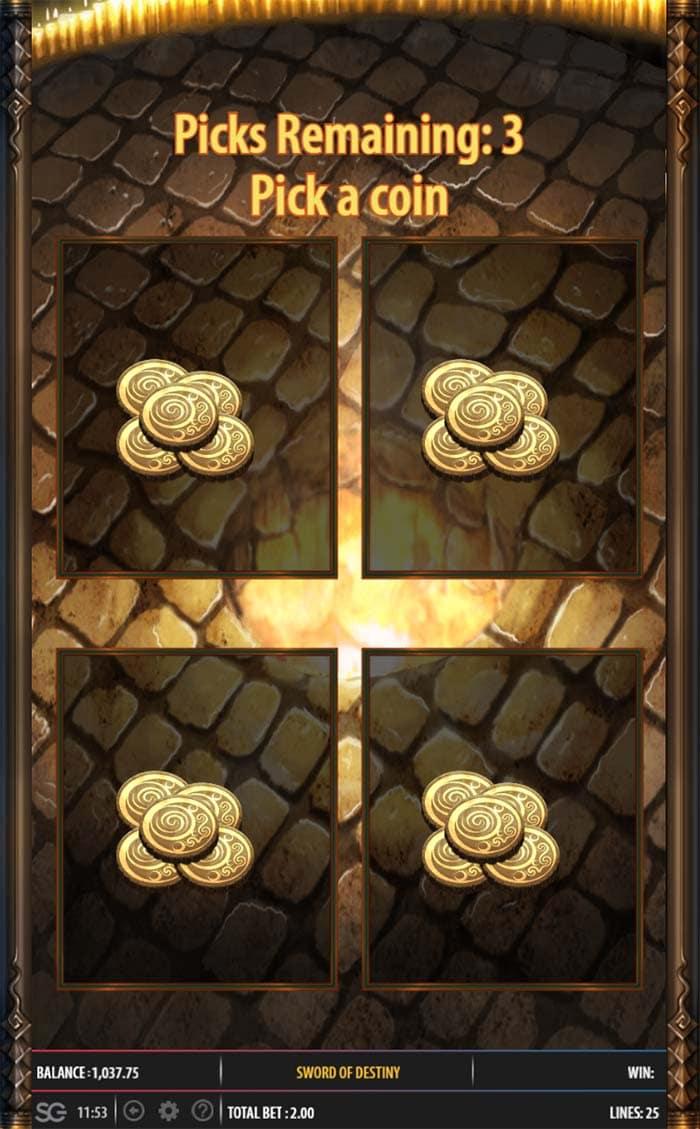 Sword of Destiny Slot - Temple Tower Jackpot Feature