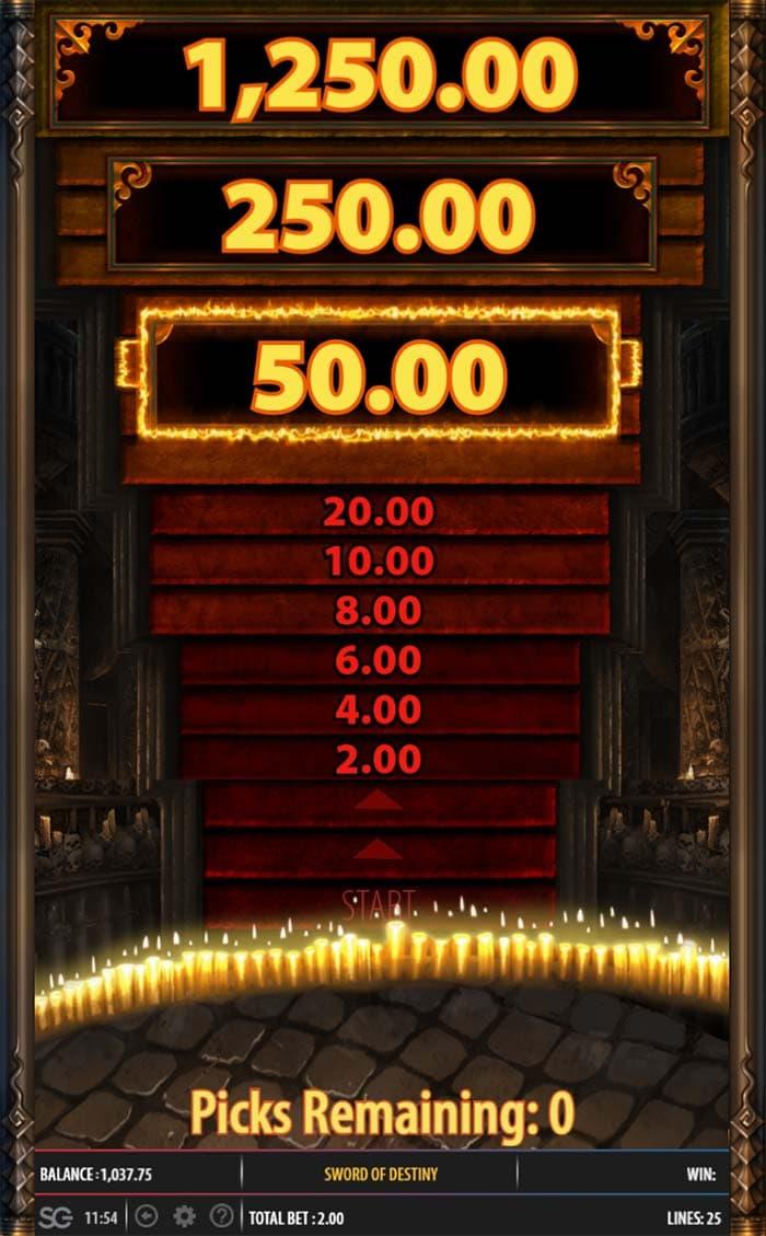 Sword of Destiny Slot - Temple Tower Bonus