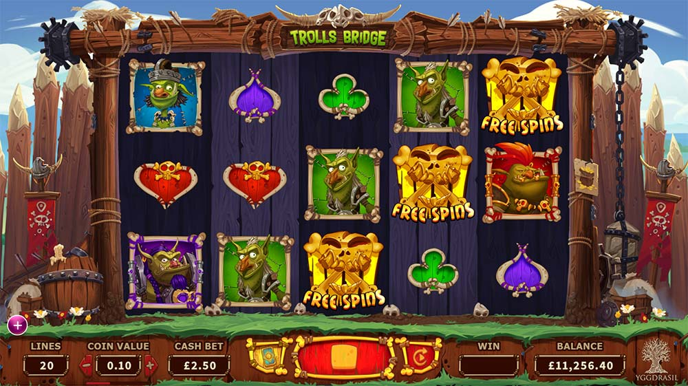 Trolls Bridge Slot - Bonus Trigger