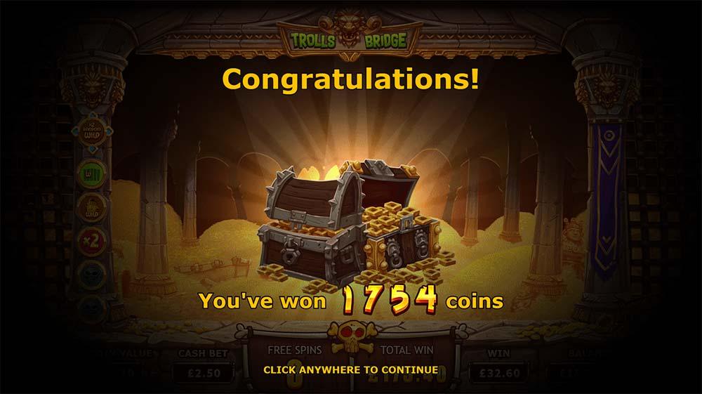 Trolls Bridge Slot - Bonus End