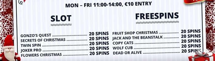 EuroSlots Casino - Christmas Promotions