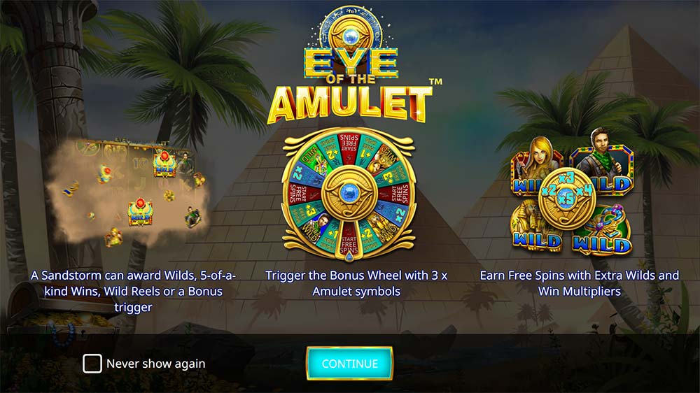 Eye of the Amulet Slot - Intro Screen