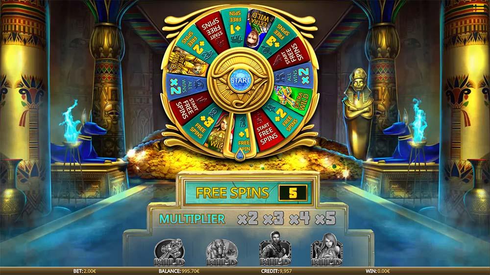 Eye of the Amulet Slot - Bonus Wheel Start