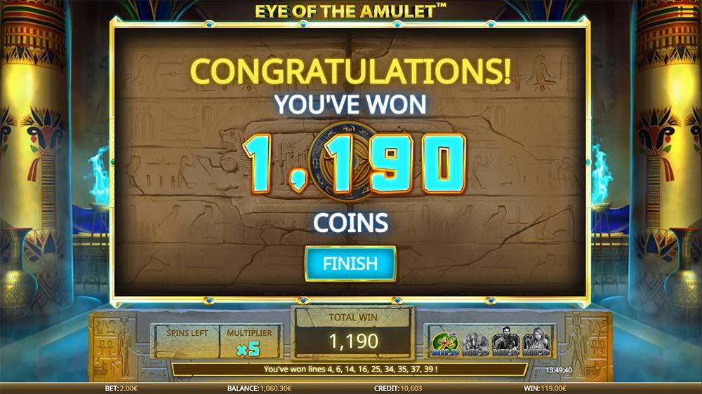 Eye of the Amulet Slot - Bonus End