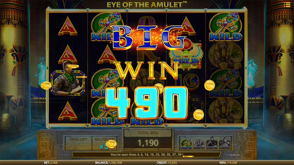 Eye of the Amulet Slot - Big Win