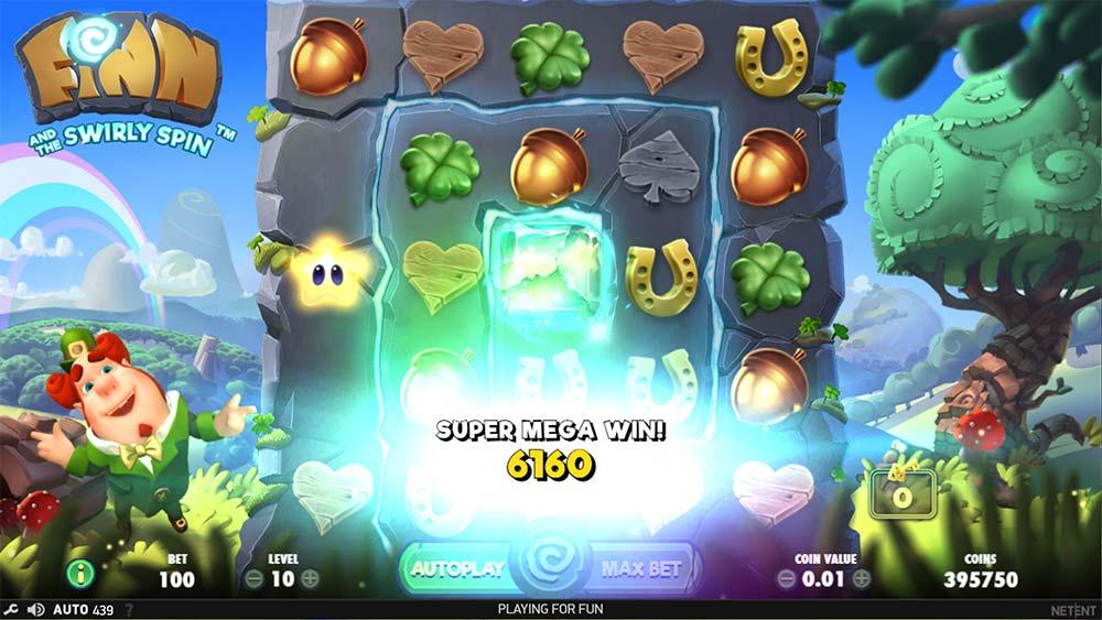 Finn and the Swirly Spin Slot - Super Mega Win