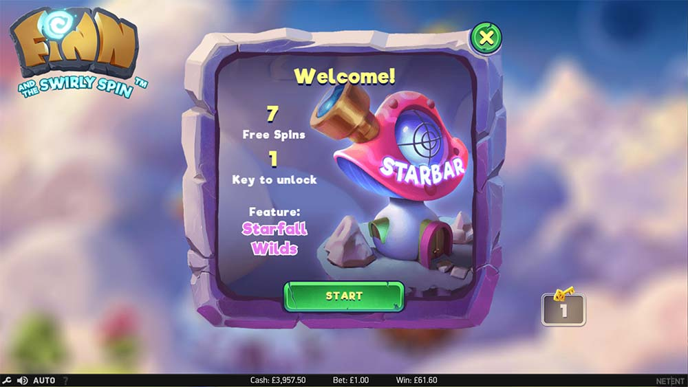 Finn and the Swirly Spin Slot - Starbar Free Spins