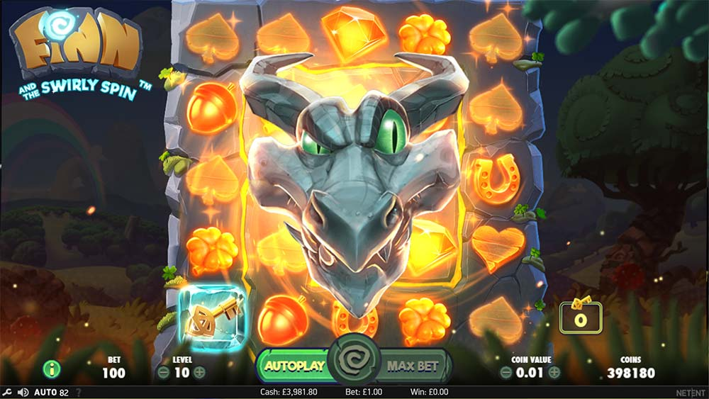 Finn and the Swirly Spin Slot - Dragon Feature