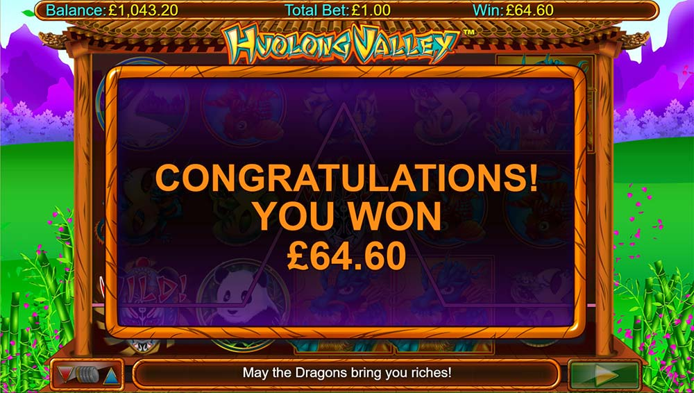 Huolong Valley Slot - Bonus End