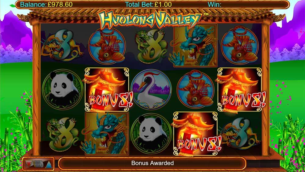 Huolong Valley Slot - Bonus Trigger