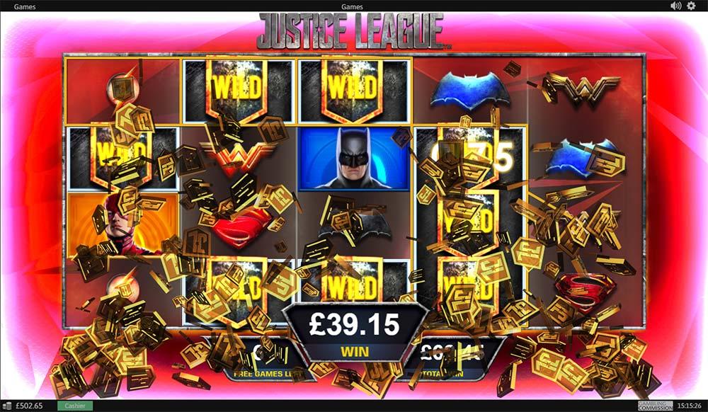 Justice League Slot - Big Win