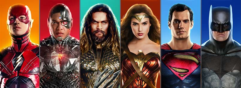 Justice League Slot Heading