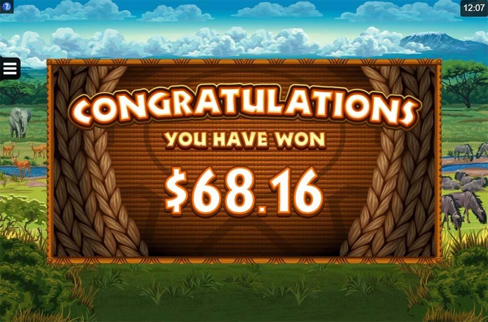King Tusk Slot - Bonus End