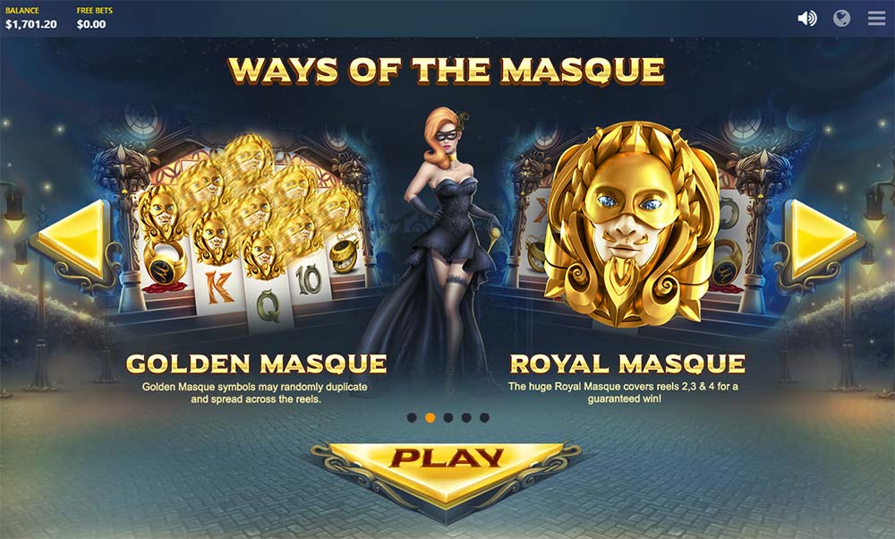 Masquerade Slot - Special Features