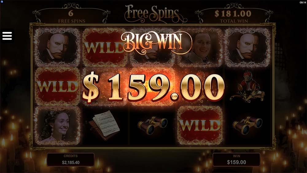 The Phantom of the Opera Slot - Big Win