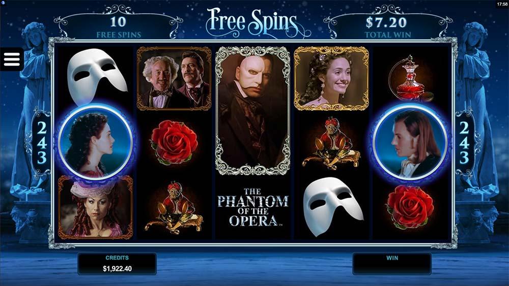 The Phantom of the Opera Slot - Free Spins