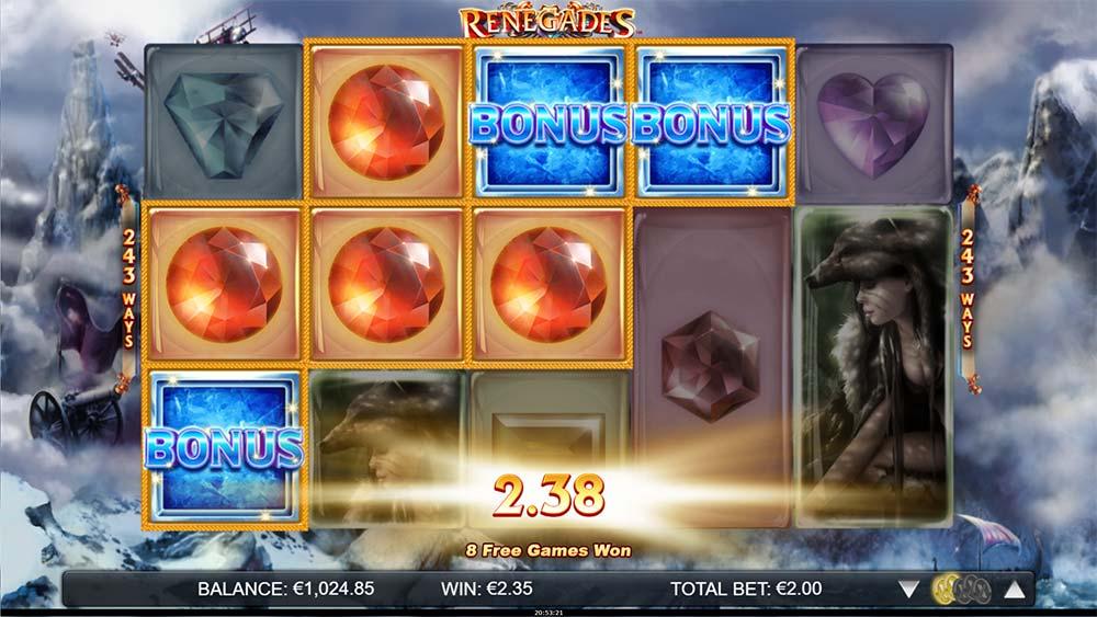 Renegades Slot - Bonus Trigger